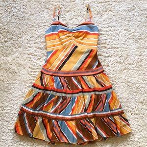 BCBG Multicolor Southwestern Print Ruffle Sundress